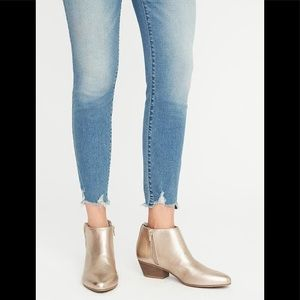 Old Navy Metallic Gold Ankle Boots